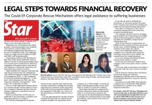 COVID-19 CORPORATE RESCUE MECHANISM: LEGAL STEPS TO FINANCIAL RECOVERY